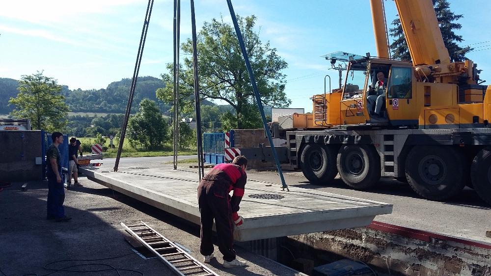 Mostní automobilová váha - instalace
